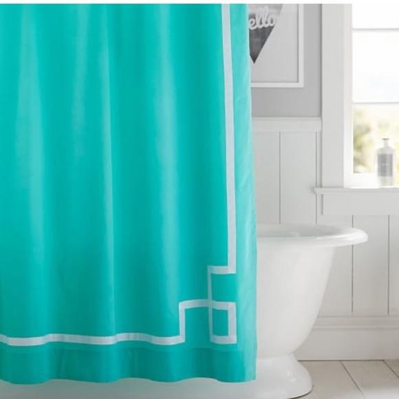 Pottery Barn Teen Bath Emma Ribbon Trim Shower Curtain Poshmark